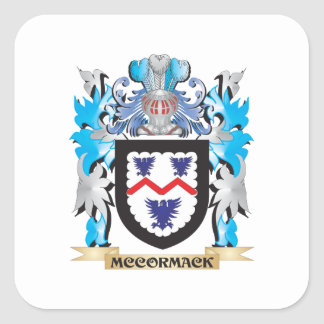 Mccormack Coat of Arms - Family Crest Square Sticker