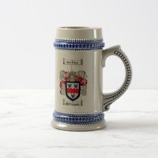 McCormack Coat of Arms Stein / McCormack Stein 18 Oz Beer Stein