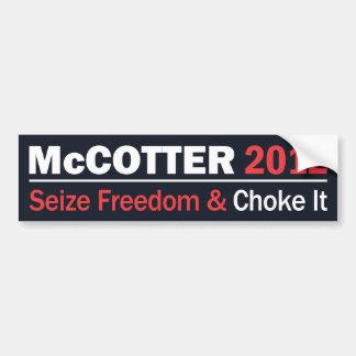 McCotter Seize Freedom Bumper Sticker Car Bumper Sticker