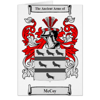 McCoy Coat of Arms Card