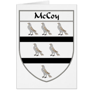 McCoy Coat of Arms/Family Crest Card