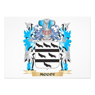 Mccoy Coat of Arms - Family Crest Personalized Announcement