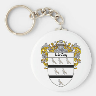 McCoy Coat of Arms (Mantled) Basic Round Button Keychain