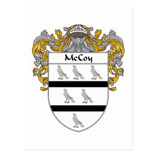 McCoy Coat of Arms (Mantled) Postcard