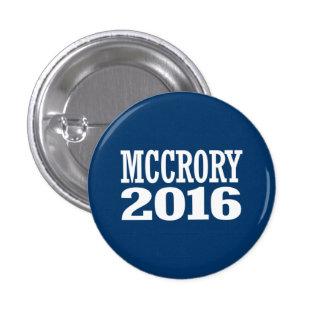 McCrory - Pat McCrory 2016 Pin Redondo De 1 Pulgada