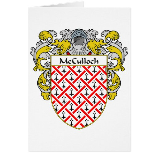 McCulloch Coat of Arms (Mantled) Card