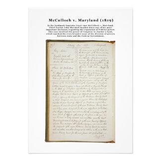 McCulloch v Maryland los 17 E E U U 316 1819 Invitación Personalizada