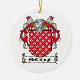 McCullogh Family Crest Christmas Tree Ornament