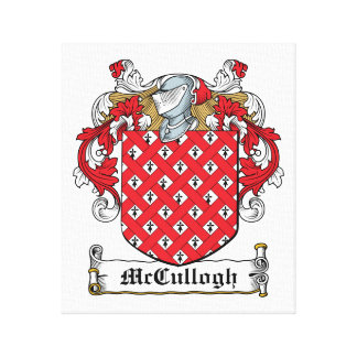 McCullogh Family Crest Gallery Wrap Canvas