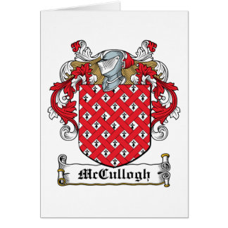 McCullogh Family Crest Greeting Card