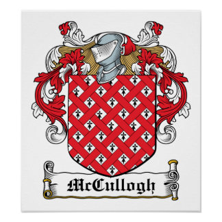 McCullogh Family Crest Poster