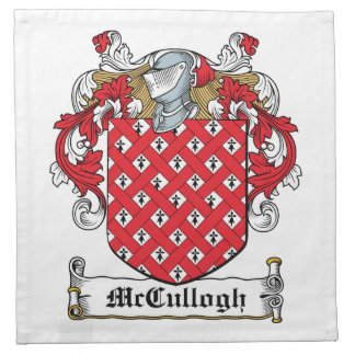 McCullogh Family Crest Printed Napkins