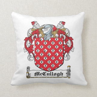 McCullogh Family Crest Throw Pillow
