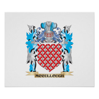 Mccullough Coat of Arms - Family Crest Poster