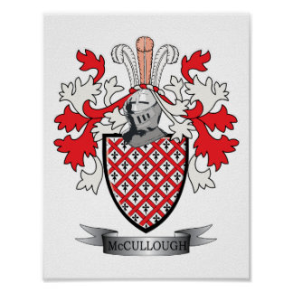 McCullough Family Crest Coat of Arms Poster