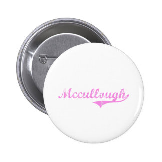 Mccullough Last Name Classic Style Buttons