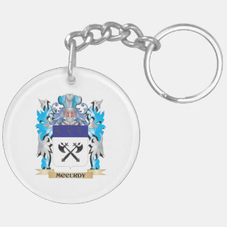 Mccurdy Coat of Arms - Family Crest Double-Sided Round Acrylic Keychain