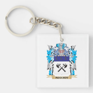 Mccurdy Coat of Arms - Family Crest Single-Sided Square Acrylic Keychain