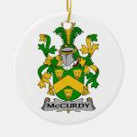 McCurdy Family Crest Christmas Tree Ornament
