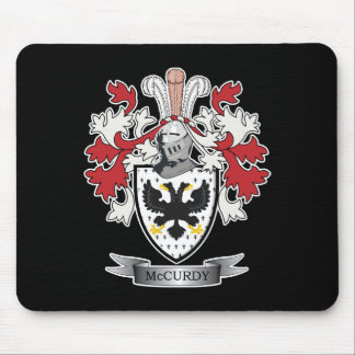 McCurdy Family Crest Coat of Arms Mouse Pad