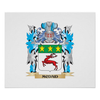 Mcdaid Coat of Arms - Family Crest Poster