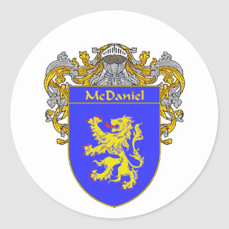 McDaniel Coat of Arms (Mantled) Classic Round Sticker