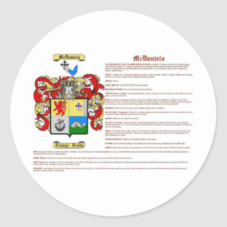 McDaniels (meaning) Classic Round Sticker