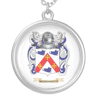 McDermott Coat of Arms (Family Crest) Silver Plated Necklace