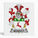 McDevitt Family Crest 3 Ring Binders