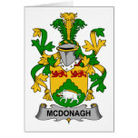 McDonagh Family Crest Greeting Card
