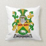 McDonagh Family Crest Throw Pillows