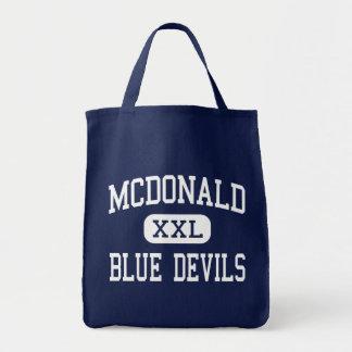 McDonald - Blue Devils - High - McDonald Ohio Canvas Bags