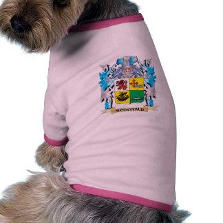 Mcdonald- Coat of Arms - Family Crest Pet Tee Shirt