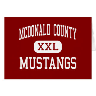 McDonald County - Mustangs - High - Anderson Card