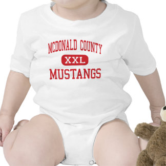 McDonald County - Mustangs - High - Anderson Baby Bodysuits