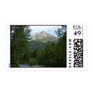 McDonald Creek at Glacier National Park Postage Stamp