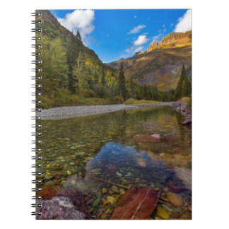 McDonald Creek in autumn with Garden Wall Notebook