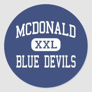 McDonald - diablos azules - alto - McDonald Ohio Pegatina Redonda