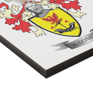 McDonald Family Crest Coat of Arms Panel Wall Art