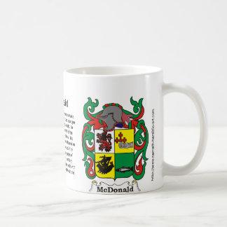 McDonald Family Crest on a mug