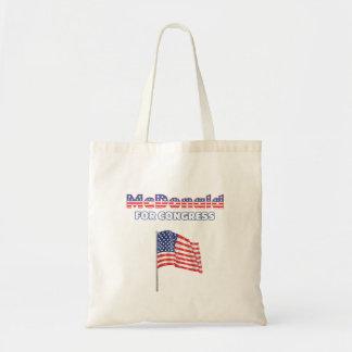 McDonald for Congress Patriotic American Flag Tote Bag