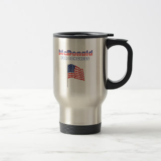 McDonald for Congress Patriotic American Flag Travel Mug