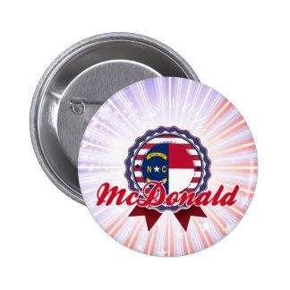 McDonald NC Pinback Buttons