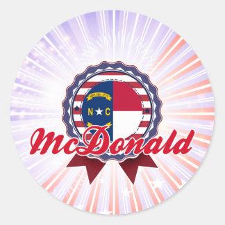 McDonald, NC Pegatina