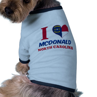 McDonald, North Carolina Dog T-shirt