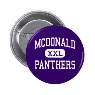 McDonald - Panthers - Junior - Katy Texas Pinback Button