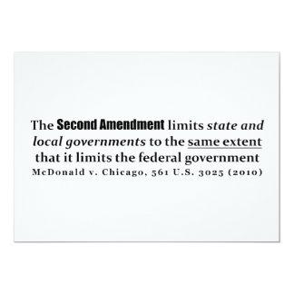 """McDonald v. Chicago, los 561 E.E.U.U. 3025 (2010) Invitación 5"""" X 7"""""""