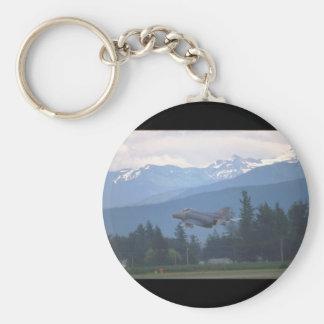 McDonnell Douglas F-4G Phantom_Aviation Photograp Basic Round Button Keychain