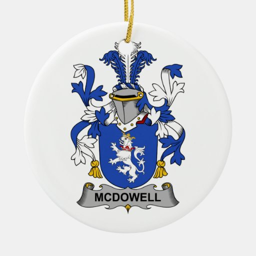 McDowell Family Crest Christmas Ornament