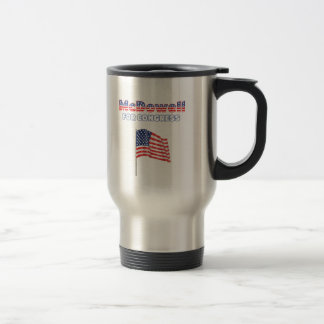 McDowell for Congress Patriotic American Flag Travel Mug